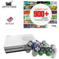 Daten Frosch Neue 4GB Video Spiel Konsole TV Konsolen mit 600 Spiele Transparent Gamepad Familie Player für GBA/ NEOGEO/NES/SNES