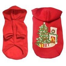 New Pet Christmas Dog Cat Hoodies Elk Christmas Tree Long Sleeves Posted Cotton Warm Corgi Cute Holiday Clothes
