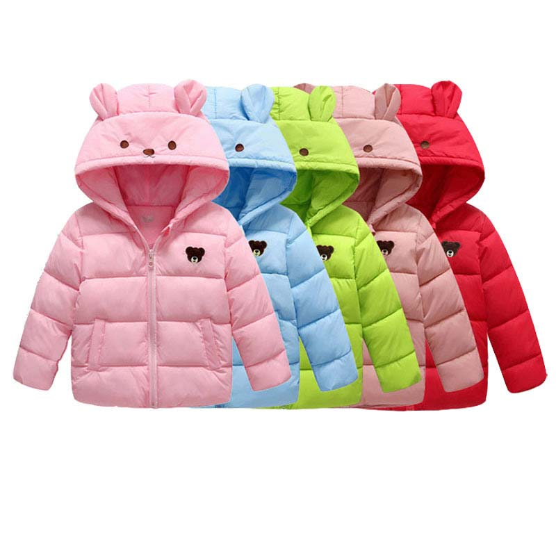 Girls Winter Coat Fashion Autumn Warm Hooded Jacket For Boys Baby Boy Cartoon Ear Snowsuit Kids Cotton Parkas Children ClothingGirls Winter Coat Fashion Autumn Warm Hooded Jacket For Boys Baby Boy Cartoon Ear Snowsuit Kids Cotton Parkas Children Clothing