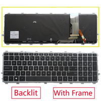 New original US backlit Keyboard With Frame for HP ENVY 15 TouchSmart 15 J000 17T J000 15T J000 J029TX J106TX Black
