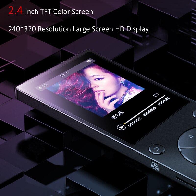 2018 Date MP3 Lecteur Bluetooth4.2 Haut-Parleur Intégré 16 gb MP3 Lecteur de Musique avec 2.4 pouce HD Écran, FM, support SD jusqu'à 128 gb