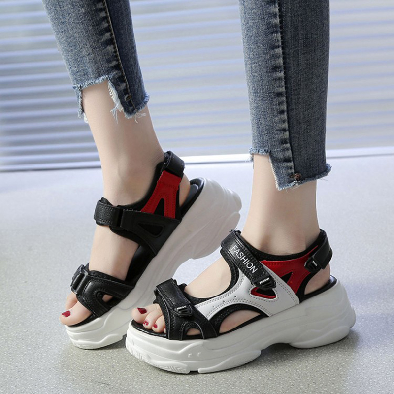 new summer platform women sandals shoes peep toe ankle strap fashion shoes(China)