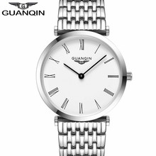 GUANQIN Women Watches 2020 Luxury Top Brand Watch Women Casual Fashion Gold Silver Steel Quartz Girl Watches relogio feminino
