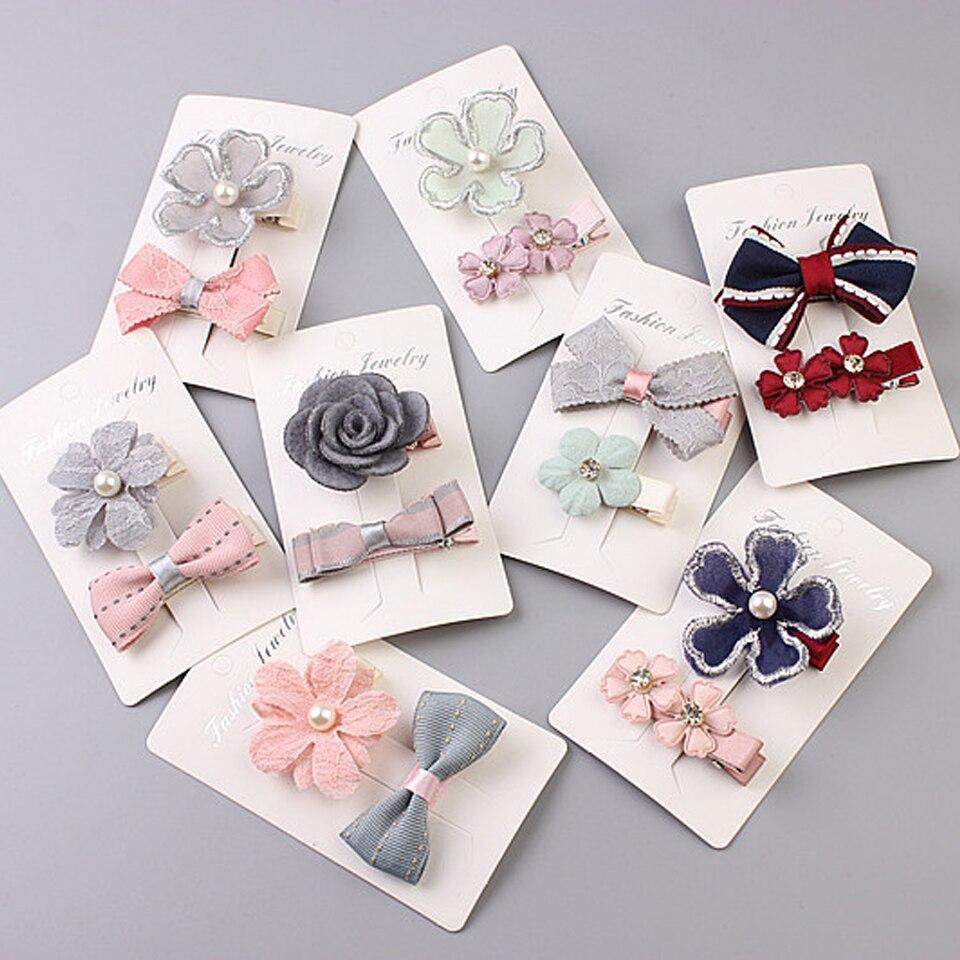 24 PCS Children/'s Hair Accessories Flower Baby Kid Girls Hair Pins Clips Set 2