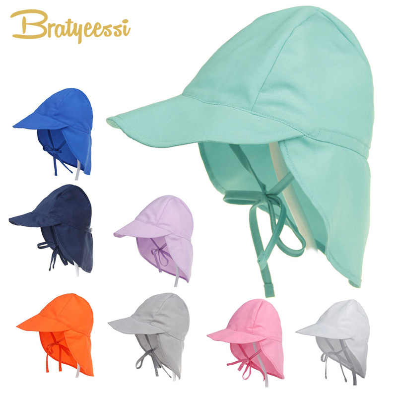 b2d5e8733 SPF 50+ Baby Sun Hat Adjustable Summer Baby Cap for Boys Travel Beach Baby  Girl Hat Kids Infant Accessories Children Hats S/L