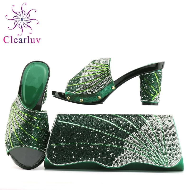 Zapatos A rojo Bolsa Encuentro De Limón Las verde Nigeria Boda Para Azul oro Bolsos Con Verde Juego Y Partes Italiano Mujer Conjuntos 1EXFqqWS
