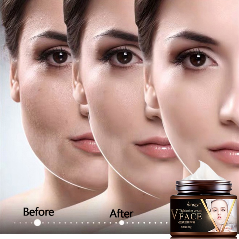 Face Lifting Cream Burning Fat Shaping V Face Firming Skin Care Facial Slimming Cream Brighten Skin Color Face Tightening Cream