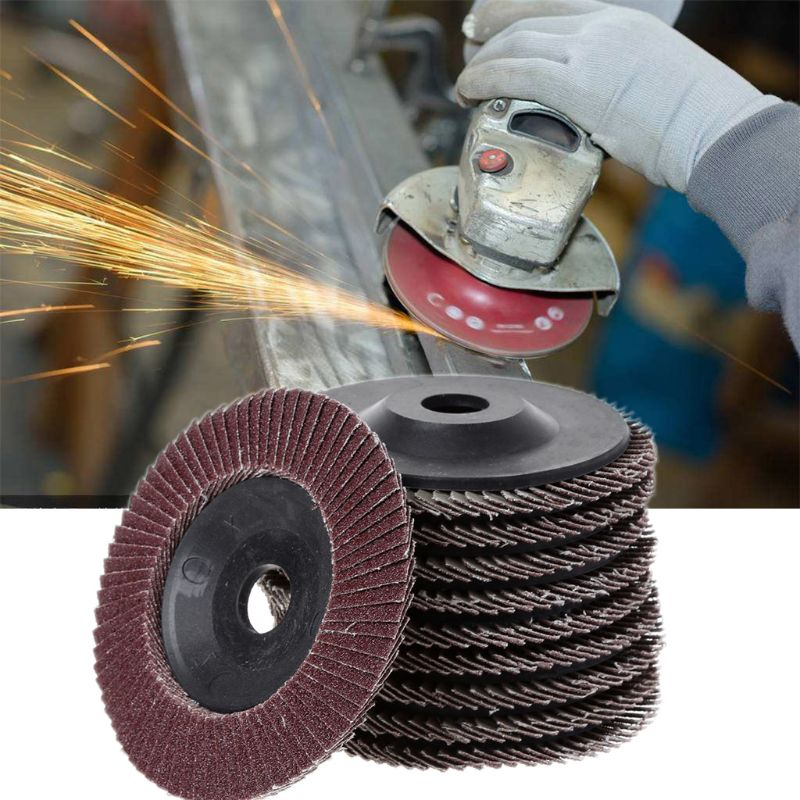 10Pcs 100mm/4inch Flap Disc Polishing Pad Plate Sander Paper Sanding Disk Grinding Wheel Abrasive Tools Grit 80