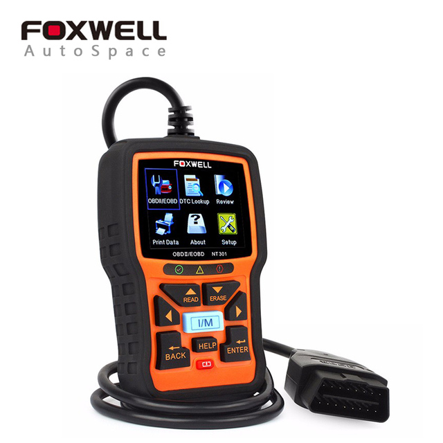 Foxwell CAN OBD2 EOBD Car Fault Code Reader NT301 Cars Diagnostic Scanners Automotive Tool OBD 2 Scanner Automotivo Universal
