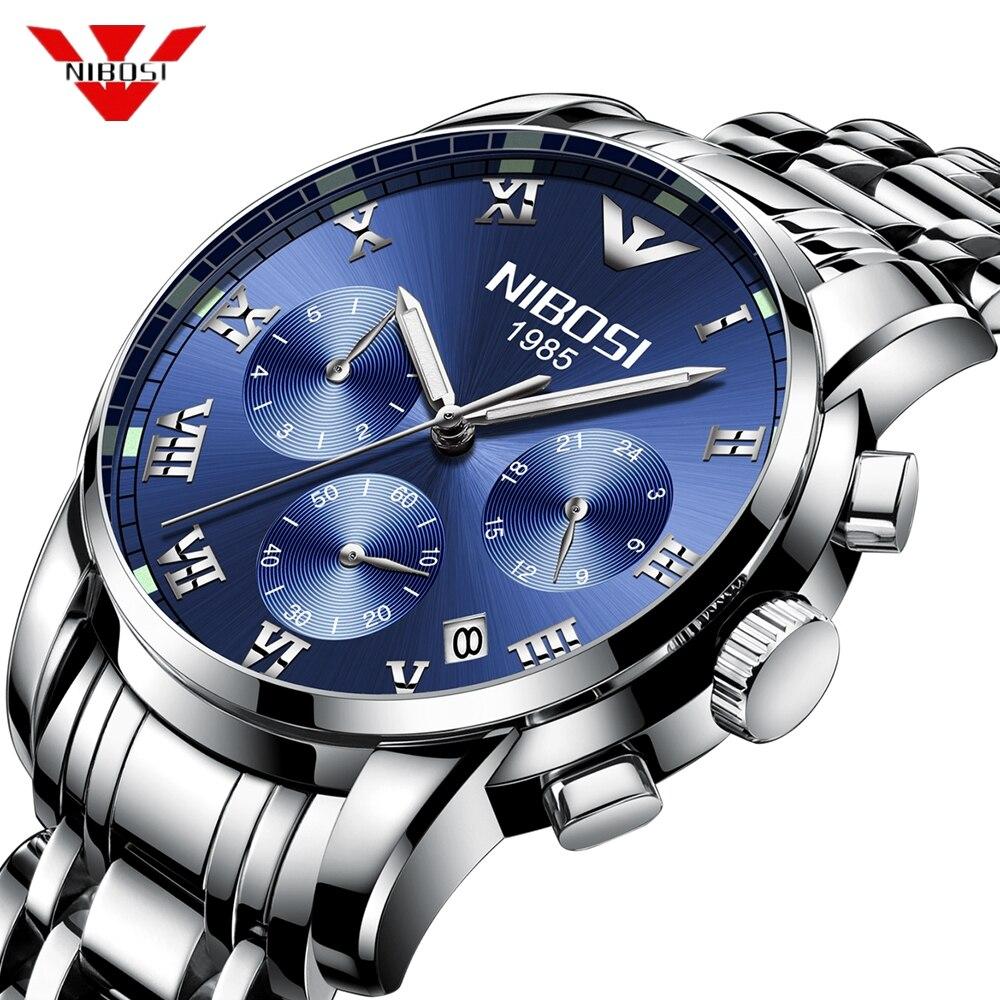 Reloje NIBOSI Top Luxury Brand Quartz Watch Men Casual Quartz Watch Stainless Steel Ultra Thin Clock Male 2019 Relogio Masculino