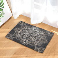 Art Carpet Rugs and carpets Lotus Mandala Bohemian Area rug for lLiving alfombras de sala Non slip Flannel Mat 40x60cm tapetes