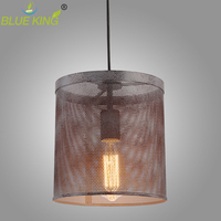 Iron Art Pendant Lights Deformable Metal Lamp Cage Holder Indoor Decor Vintage Edison Bulb Pendant Lighting rustic E27 lamp