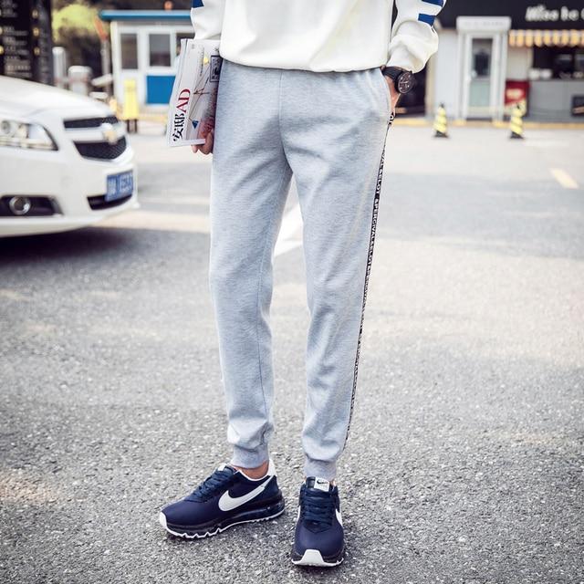 2016 Mens Joggers Male Trousers Men Pants Mallas Hombre  Elastic  Stripe Pants  Sweatpants Jogger Pantalones 5XL
