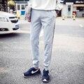 2016 Mens Joggers Pantalones Masculinos de Los Hombres Pantalones de Hombre Elástico de La Raya Mallas Pantalones Basculador Pantalones 5XL