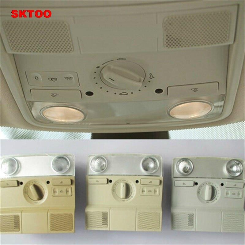 SKTOO ドームライトのフロント天井ランプ読書ランプインテリアランプフォルクスワーゲン Sagitar MAGOTAN Golf6 MK6 ジェッタ MK5 パサート B6  グループ上の 自動車 &バイク からの 信号ランプ の中 1