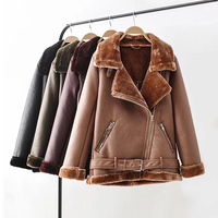 Thick Warm Russian Female Winter Fur Coats Automotive Women Shearling Coats China Imported Women Faux Fur Leather Jackets W014