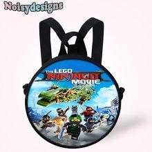 3093c240e95 Noisydesigns 3D Ninjago Games Films Gedrukt grappige Tassen voor Baby  Jongens Little Kids Ronde Ontwerp Boekentas Pre Kind Schoo.