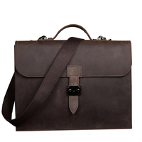 Vintage Genuine Leather Business Briefcase Men S Handbag Messenger Bags 13 Inch Laptop Computer Shoulder Bag