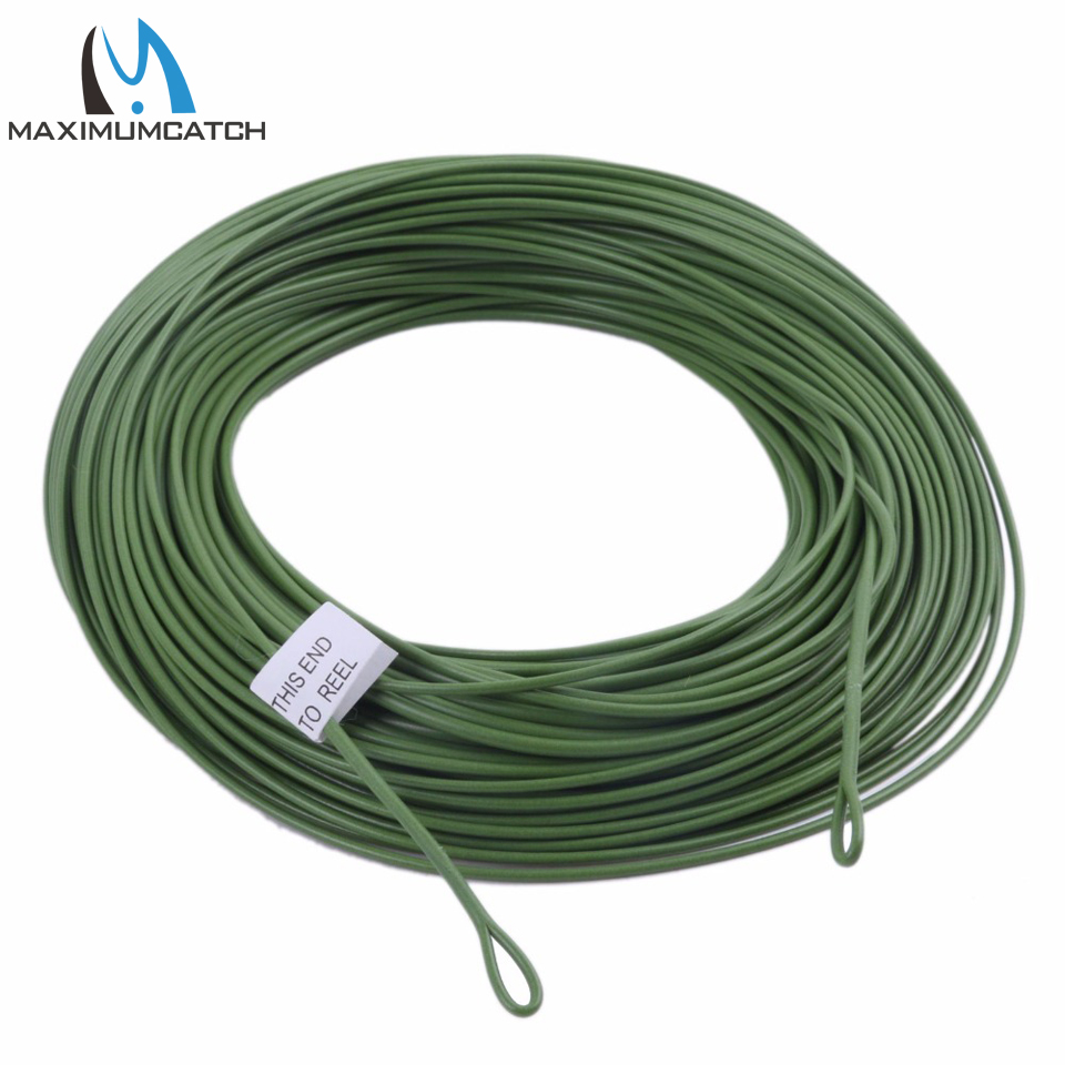 Maximumcatch 100FT Weight Forward Floating Fly Fishing Line 10/12 WT Fly Line With Welded Loop maximumcatch 100ft wf4 5 6 7 8f switch fly fishing line weight forward floating fly line with two welded loops fishing line