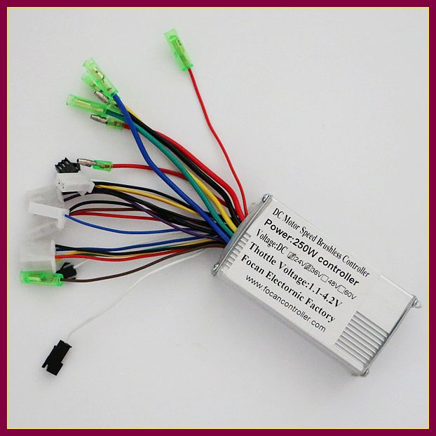 2017 HOT SALE 36V 250W Universal brushless BLDC motor controller lithium Battery for Electric Scooter