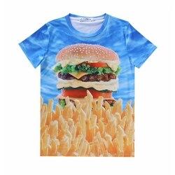 2016 men s summer 3d hamburger printed t shirt unisex cotton tee causal fries printed short.jpg 250x250