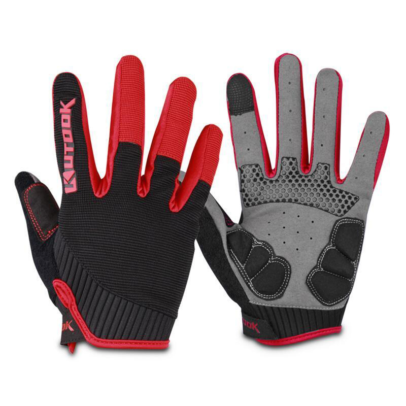 Outdoor Sport Gloves Mens Fitness Gloves Long Finger Winter Windproof Cycling Bike Gloves MTB Road Bicycle Tactical Gloves KF401