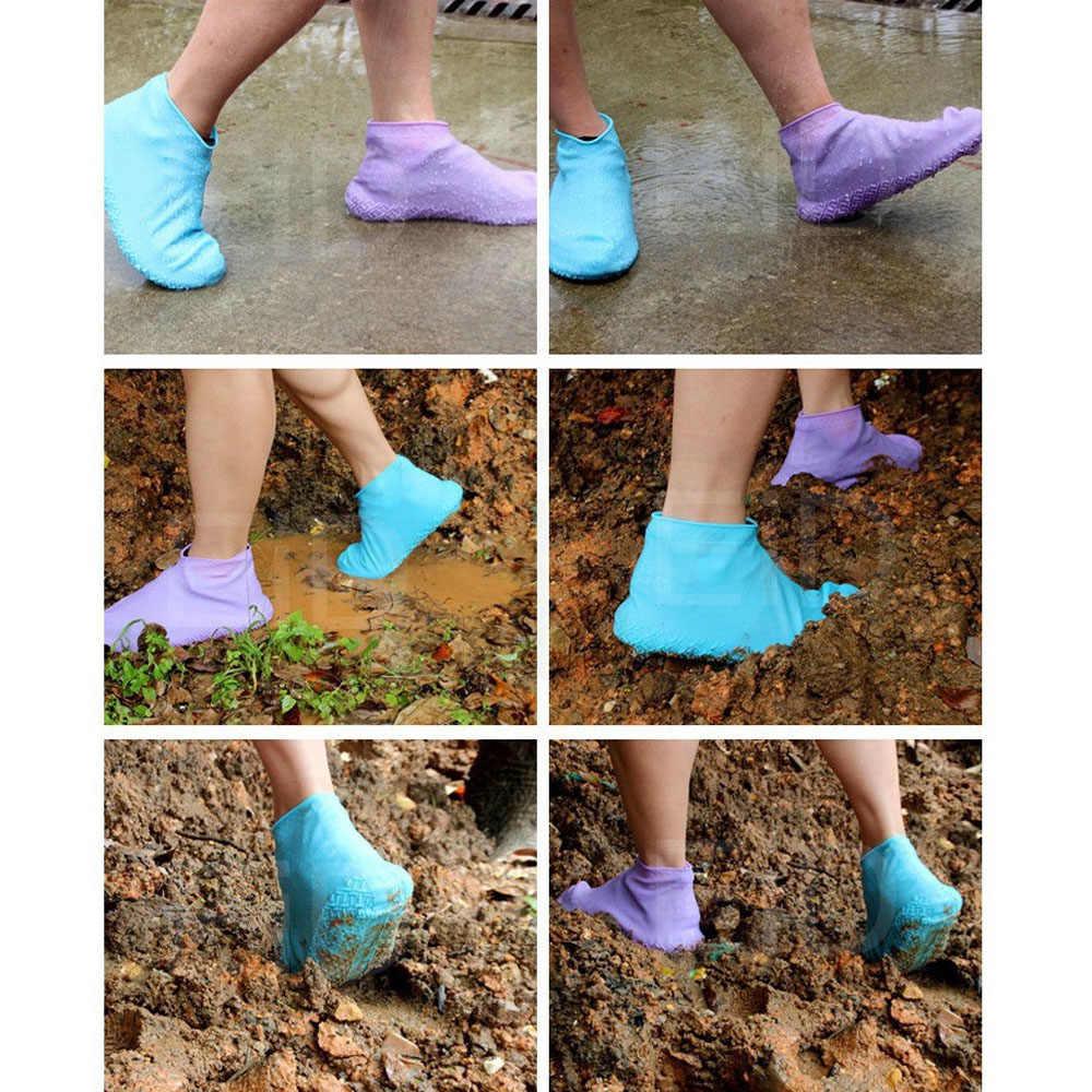 EiD pratique réutilisable Silicone imperméable à l'eau couverture de chaussure de pluie durable en plein air imperméable randonnée antidérapant cyclisme Sport chaussure couverture