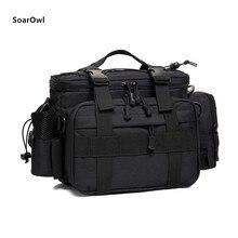 Bolsa de hombro multifuncional bolsa de pesca impermeable al aire libre táctica montañismo mochila portátil de nylon