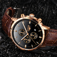 relojes para hombre LIGE New Watch Men Fashion Sport Quartz Clock Mens Watches Brand Luxury Leather Business Waterproof Watch цена в Москве и Питере