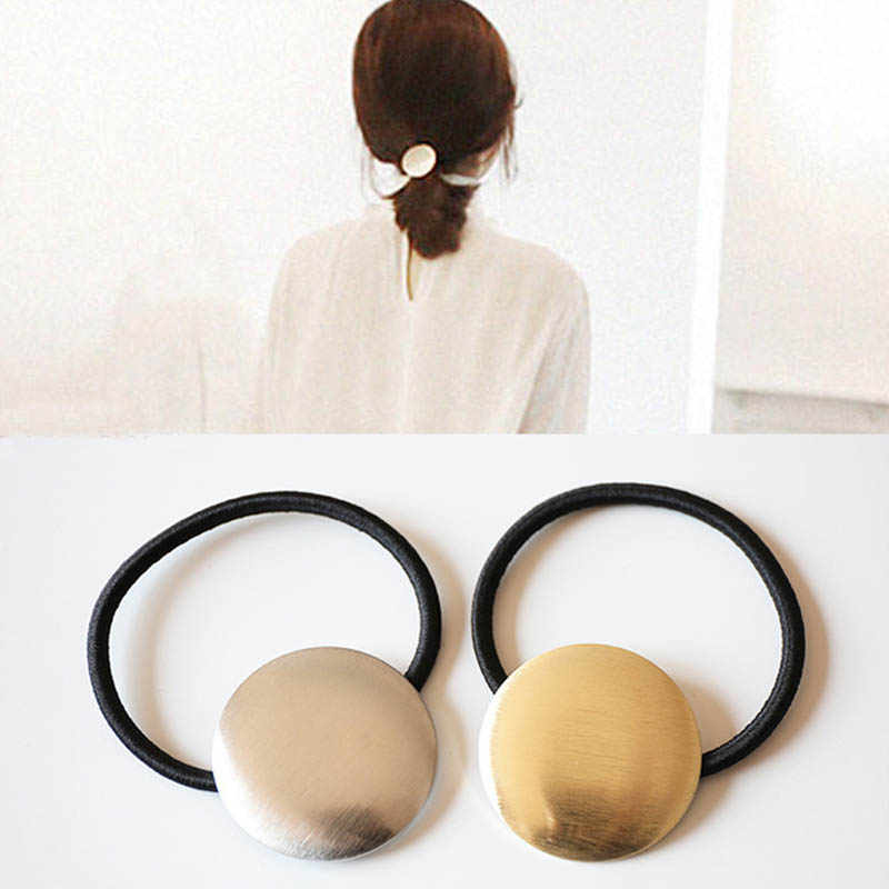 LNRRABC  Fashion Durable Stretch Simple Metal Hair Band Hair Rope Women Hair Metal Hair Accessories