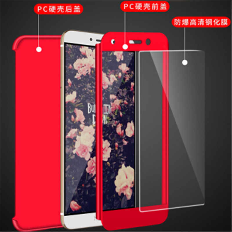 For Huawei Y7 Prime Tempered Glass Front Back Cover Full Body Coverage For Honor 6X / Mate 9 Lite / GR5 2017 360 Protective case