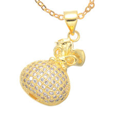 Fashion Micro Pave Jewelry Shining Zircon Money Bag Chain Choker Necklaces Handmade Hollow Pendant For Best Friends Bijoux Gift(China)