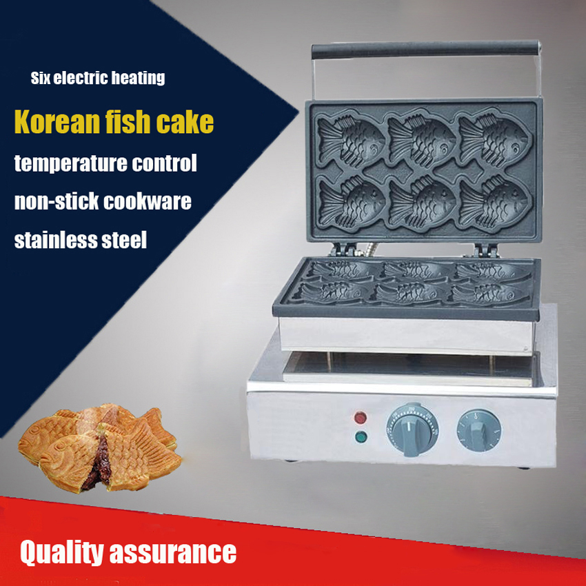 1PC Korean Electric sea bream fish shape cake baking machine_fish shape waffle maker/Taiyaki Waffle maker