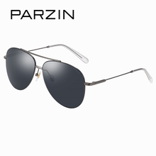 PARZIN Brand Unisex Pilot Sunglasses Alloy Frame Aviator Glasses Colorful Anti-Reflecti Coating Driving Sunglasses 8150 New