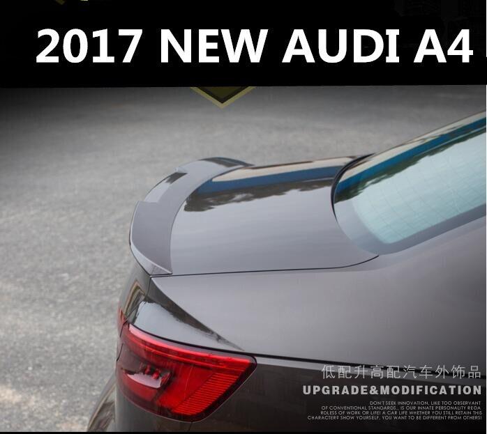 Краска заднего крыла багажника спойлер для 17 18 AUDI A4 A4L 2017 2018 Быстрая доставка EMS