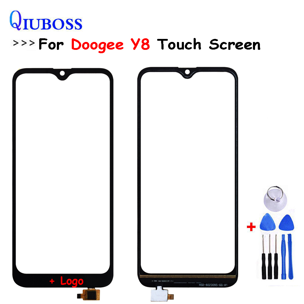 Touch Screen Digitizer For Doogee Y8 Front Glass Lens Mobile Phone Touch Panel Sensor Tools