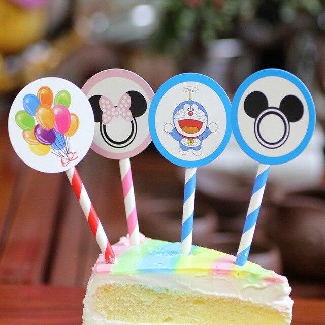 6 Stucke Mickey Minnie Maus Cupcaketopper Picks Kuchen Flaggen Baby