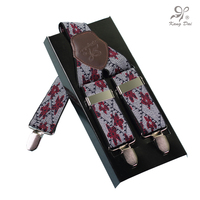 Kangdai современный стиль Топ мужские подтяжки с 3 стали Clip-On нержавеющей модные геометрический ремень для взрослых мужчин мужчина, suspendersA3