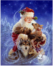 Diamond Embroidery 5D Diy Painting Santa Claus and Animals Cross Stitch Rhinestone Mosaic