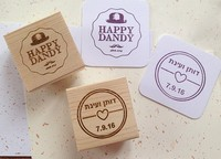 1 Pcs Any Size Customized 9 Samples Wedding Custom Rubber Wooden Stamp Birthday Name Word Scrapbooking