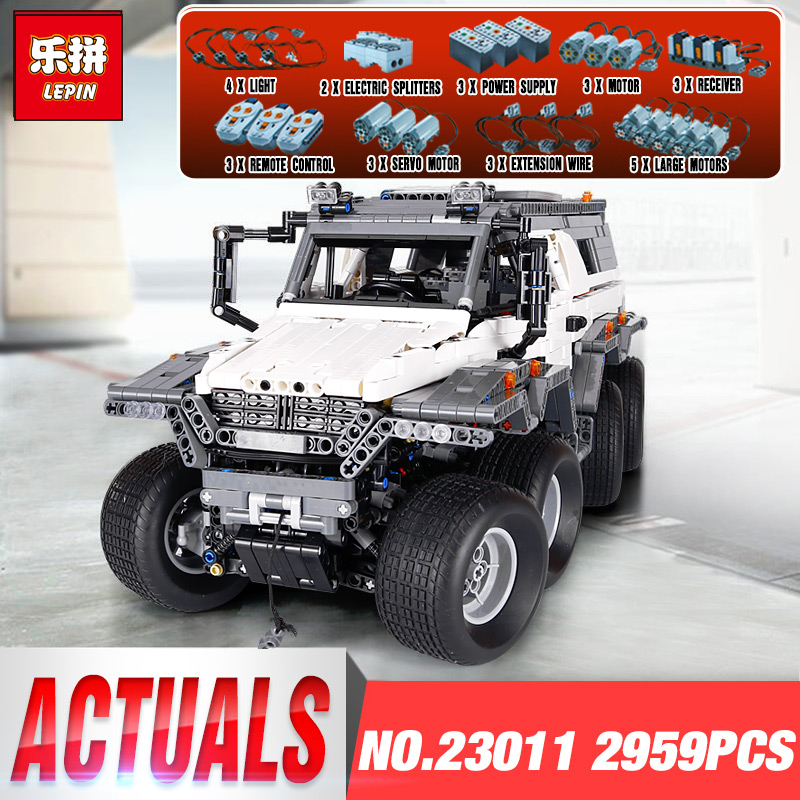 2018 New LEPIN 23011 2959 pcs Technics Series Off-road Vehicle Model set Building Blocks DIY LegoINGly Bricks Toys Kids Gift new 1628pcs lepin 07055 genuine series batman movie arkham asylum building blocks bricks toys with 70912 puzzele gift for kids
