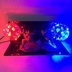 Dragon Ball Z Vegeta Son Goku Schlacht Super Saiyan Led Nacht Lampe Anime DBZ RGB Nachtlicht 110 V 220 V home Decor Tabelle Lichter