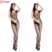 10c6652f119 Candiway Sexy Teddy Bodystockings Stars Pattern Underwear Hollow out  Fishnet Bodysuit