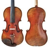 Free Shipping Copy stradivarius 1716 100% Handmade Oil Varnish Violin FPVN04 with Foam Case and Carbon Fiber Bow