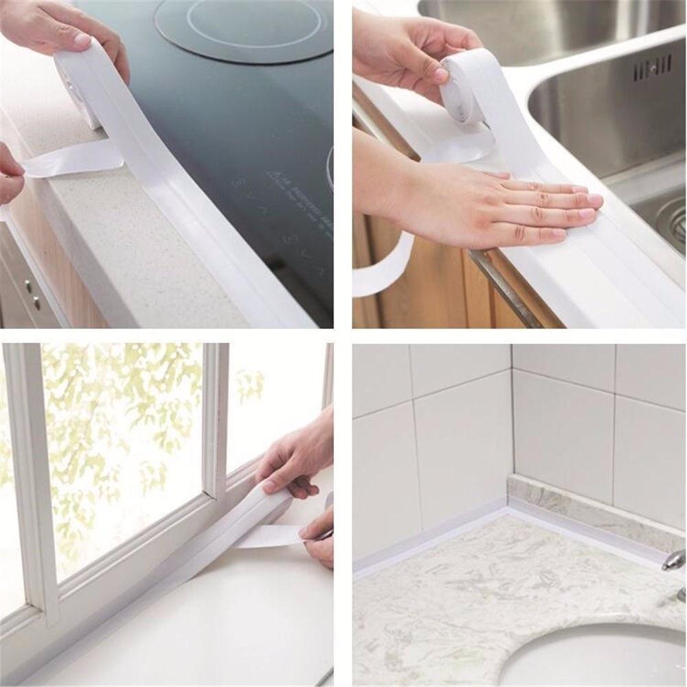 Home Bathroom Bathtub Kitchen Wall Stickers Art Sealing Strip ...