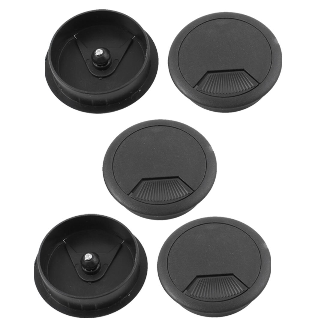 5 Pcs Home Office Desk Table Computer 60mm Cable Cord Grommet Hole
