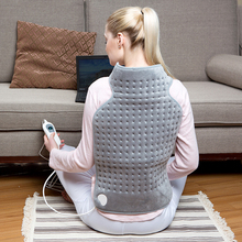 Bellavie 63*42 CM cosy fleece heating pad for Cushion and neck and back Warmer Electric for warmer and relief(220V EU Plug)