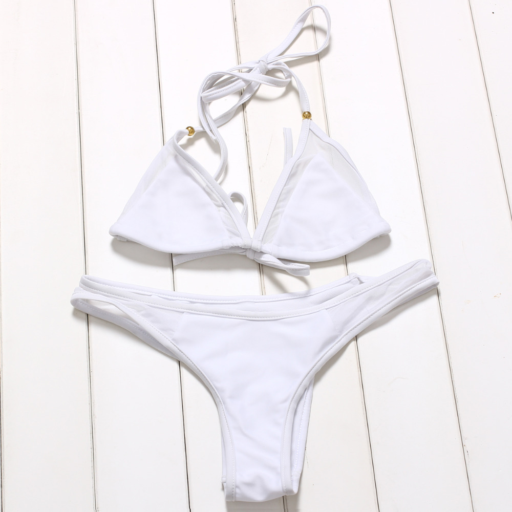 JABERAI Mesh Bathing Suit 2017 Bikini Set Splicing Push Up Swimsuit Brazilian Swimwear Women Halter Biquini Maillot de Bain 3