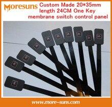 Fast Free Ship 5pcs/lot Custom Made 20*35mm length 24CM One Key membrane switch control panel