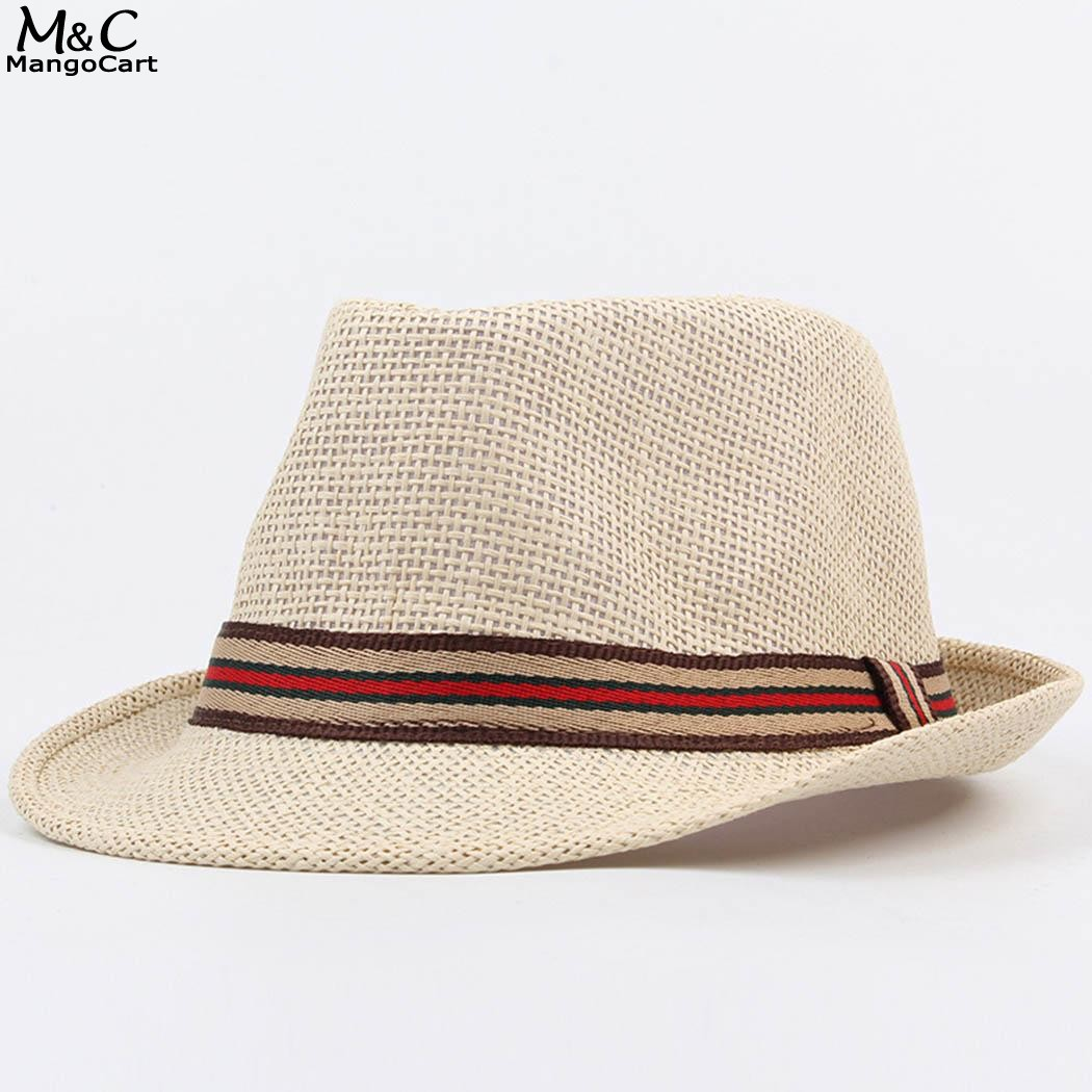 Summer Sun Hats for Women Men Unisex Fashion Summer Spring British Style Straw Hat Braided Casual Beach Hat